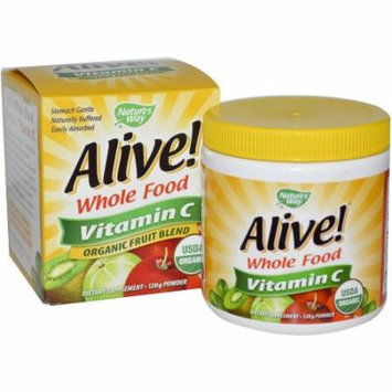 Natures Way Alive! Supplements, Alive! Vitamin C Powder, 120 GM