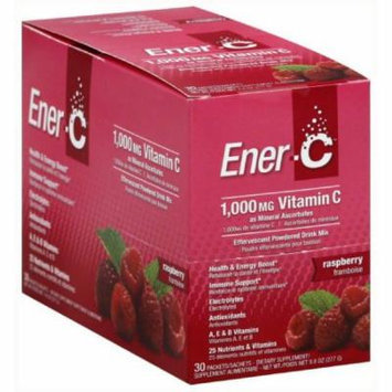EnerC Effervescent Powdered Drink Mix, Vitamin C, 1000 mg, Raspberry, 30 CT