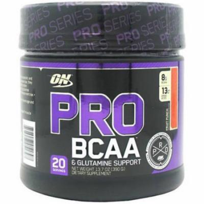 Optimum Nutrition Pro BCAA, Fruit Punch, 20 CT