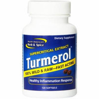 North American Herb & Spice Mineral Supplement Turmerol Gel Capsules, 120 CT