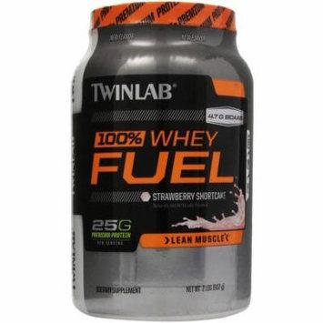 Twinlab 100% Whey Protein Fuel, Strawberry, 2 LB