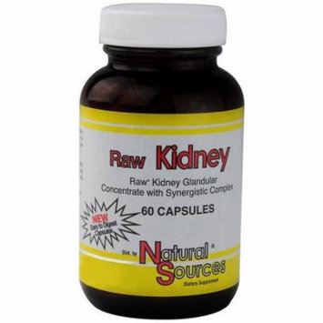 Natural Sources Raw Kidney Caplets, 60 CT