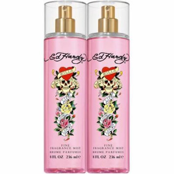 Ed Hardy Fragrance Mist for Women, 8 fl oz, 2 count