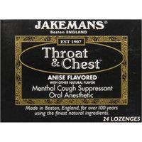 Jakemans Throat & Chest Lozenges, Anise, 24 CT (Pack of 24)