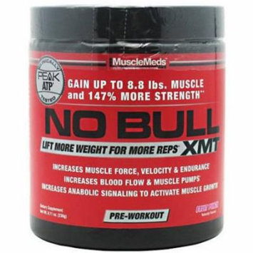 Muscle Meds No Bull XMT Pre Workout Powders, Fruit Punch, 8.11 OZ