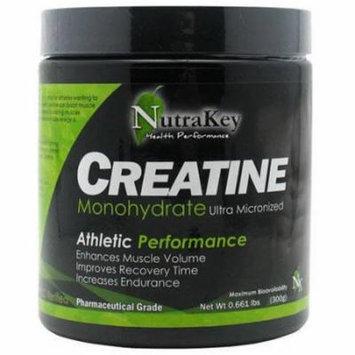 Nutrakey Creapure Creatine Monohydrate, Unflavored, 300 GM