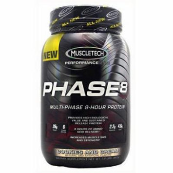 MuscleTech Phase 8, Cookies and Cream, 2 LB