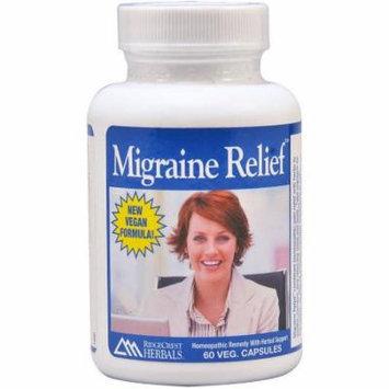 Ridgecrest Herbals Migraine Relief, Vegetarian Capsules, 60 CT