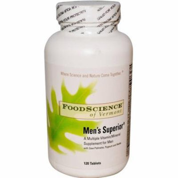 Food Science Men's Superior Multi-Vitamin Tablets, 120 CT
