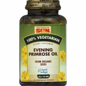 Health From The Sun Evening Primrose Oil, from Organic Seeds, Liquid Vegetarian Softgels, 90 CT