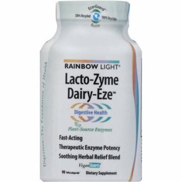 Rainbow Light Lacto-Zyme Dairy Eze Plant Source Enzyme Tablets, 90 CT
