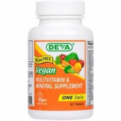Deva Multivitamin without Iron, Vegan , 90 CT