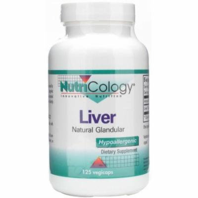 Nutricology Liver Beef Natural Glandular, 125 CT