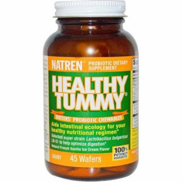 Natren Healthy Tummy Dieters' Probiotic Chewable Wafers, 45 CT