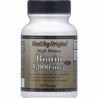 Healthy Origins Biotin Vegetable Capsules, 60 CT