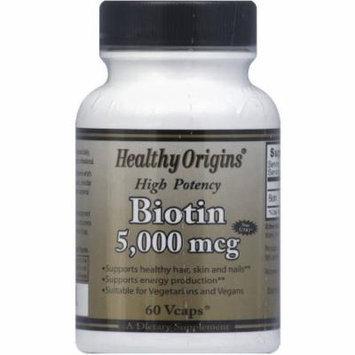 Healthy Origins Biotin Vegetable Capsules, 60 CT