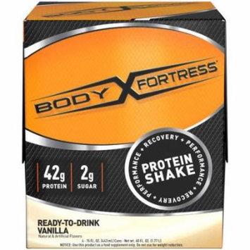 Body Fortress RTD Vanilla Protein Shakes, 15 fl oz, 4 count