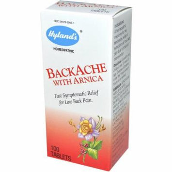 Hylands Backache With Arnica Tablets, 100 CT