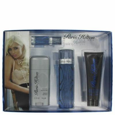 Paris Hilton by Paris Hilton Gift Set -- 3.4 oz Eau De Toilette Spray + 3 oz Body Wash + 2.75 oz Deodorant Stick + .25 Mini EDT Spray For Men