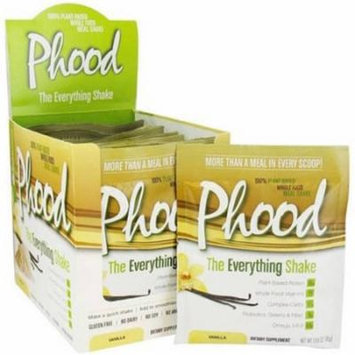 Plantfusion Phood The Everything Shake Powder Packets, Vanilla, 1.59 OZ (Pack of 12)