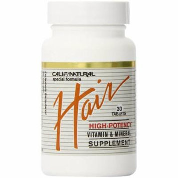 California Natural Hair Vitamin And Mineral Supplement, 30 Ct (pack Of 2)