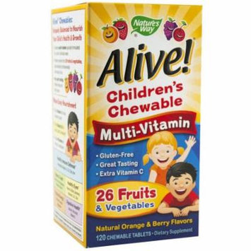 Nature's Way Alive Children's Multi-Vitamin Chewableable Tablets, 120 CT