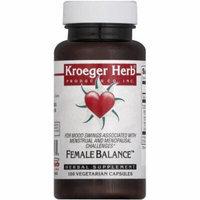 Kroeger Herb Female Balance, Vegetarian Caplets, 100 CT
