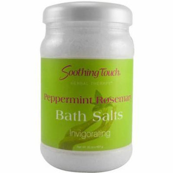 Soothing Touch Bath Salts, Peppermint Rosemary, 32 OZ