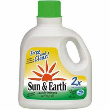 Sun & Earth Heavy Duty 2X Concentrated Laundry Detergent, 100 FL OZ (Pack of 4)