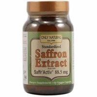 Only Natural Saffron Extract Vegetable Capsules, 60 CT