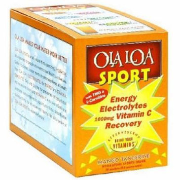 Ola Loa Sport, Energy Electorlytes Vitamin C Recovery Drink Mix, Mango Tangerine, 30 CT