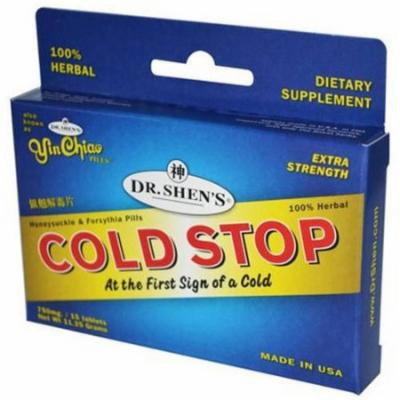 Dr Shen's Yin Chiao Cold Stop At the First Sign of a Cold, 15 Tablets, 15 CT