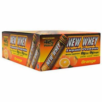 New Whey Liquid Protein, Orange, 12 CT