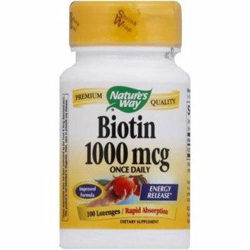 Nature's Way Biotin Lozenges, 100 CT