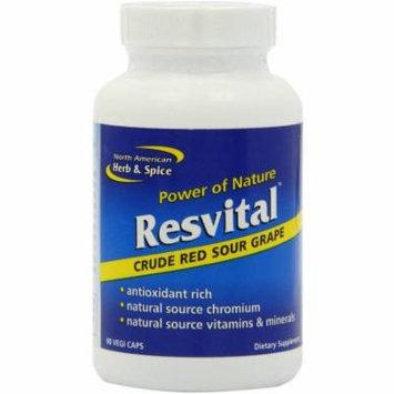 North American Herb & Spice Resvital Capsules, 90 CT