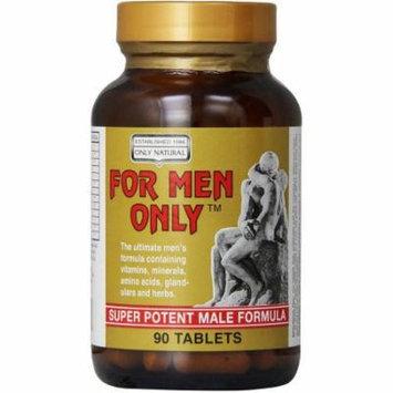 Only Natural For Men Only, Super Potent, 90 CT