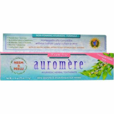 Auromere Non-Foaming Herbal Toothpaste, 4.16 OZ (Pack of 12)