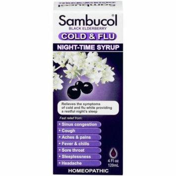 Sambucol Night Time Cold & Flu Syrup Black Elderberry, 4 FL OZ