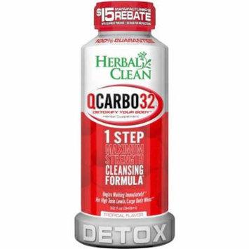 Herbal Clean QCarbo Liquid Detox Tropical, 32 OZ