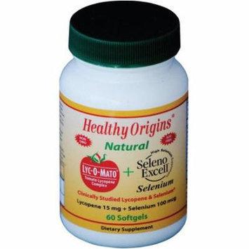 Healthy Origins Lyc-O-Mato + Seleno Excell, Tomato Lycopene & Selenium, Natural,15mg, 60 CT