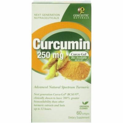 Genceutic Naturals Curcumin 250mg, 60 CT
