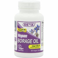 Deva Borage Oil, 500mg , Vegan, 90 CT