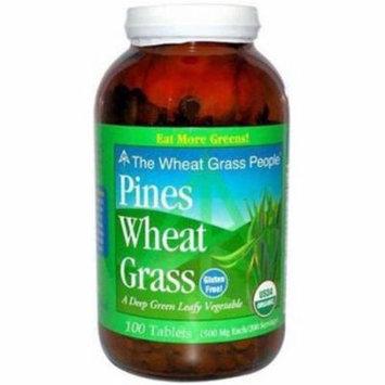 Pines International Organic Wheat Grass Tablets, 100 CT