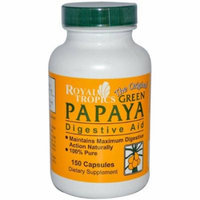 Royal Tropics The Original Green Papaya Digestive Aid Capsules, 150 CT