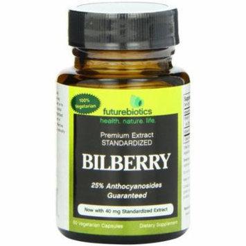 Futurebiotics Bilberry Extract Standardized Vegetarian Capsules, 60 CT
