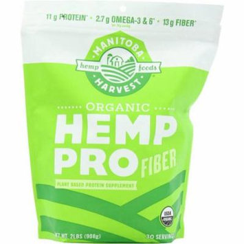 Manitoba Harvest Hemp Pro Fiber, Plant Based Protein Supplement, Organic, 32 OZ