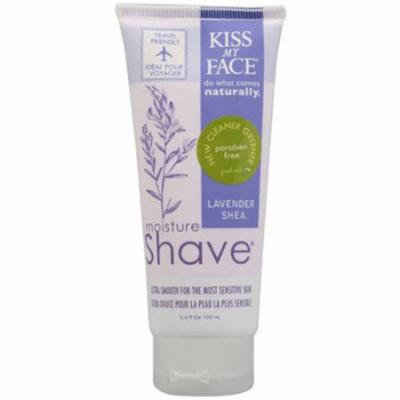 Kiss My Face Moisture Shave Lavender and Shea, 3.4 OZ (Pack of 2)