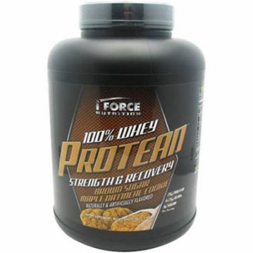 iForce Nutrition 100% Whey Protein, Brown Sugar Maple Oatmeal Cookie, 4.3 LB
