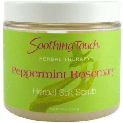 Soothing Touch Salt Scrub, Herbal, Peppermint Rosemary, 20 OZ