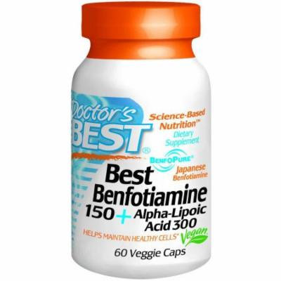 Doctor's Best Benfotiamine + Alpha Lipoic Acid, 60 CT